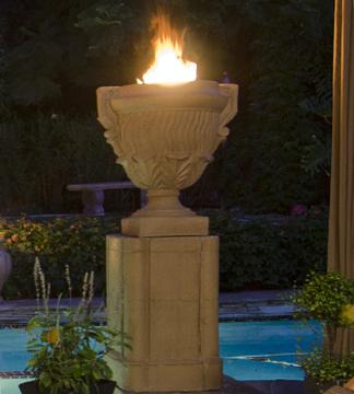Piage FIre urn & Pedestals