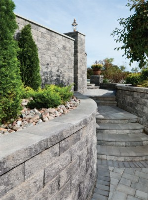 Retaining Walls at HilltopBlock.com